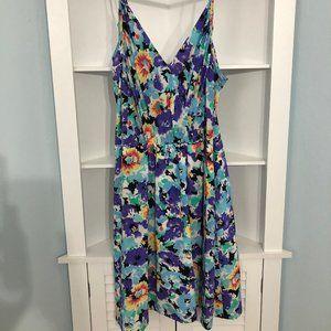 Yumi Kim Floral 100% silk dress, size S